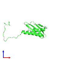 PDB 1l4s coloured by chain and viewed from the front.