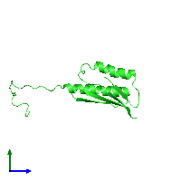 PDB 1l4s coloured by chain and viewed from the side.