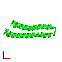 0-meric assembly 1 of PDB entry 1l6t coloured by chemically distinct molecules and viewed from the front.