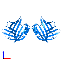PDB 1lib contains 2 copies of ADIPOCYTE LIPID-BINDING PROTEIN in assembly 1. This protein is highlighted and viewed from the front.