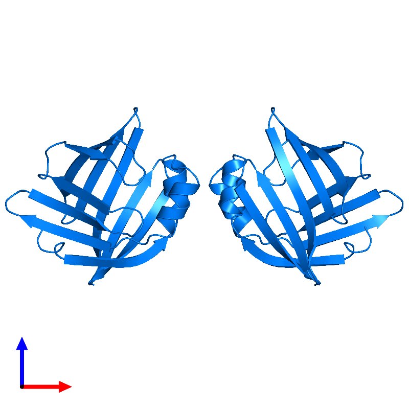 <div class='caption-body'>PDB entry 1lib contains 2 copies of ADIPOCYTE LIPID-BINDING PROTEIN in assembly 1. This protein is highlighted and viewed from the front.</div>