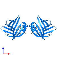 PDB 1lic contains 2 copies of ADIPOCYTE LIPID-BINDING PROTEIN in assembly 1. This protein is highlighted and viewed from the front.