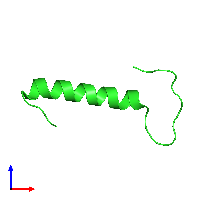 PDB 1ljv coloured by chain and viewed from the front.