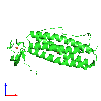 PDB 1lkp coloured by chain and viewed from the front.