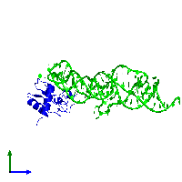 Dimeric assembly 1 of PDB entry 1lng coloured by chemically distinct molecules and viewed from the side.