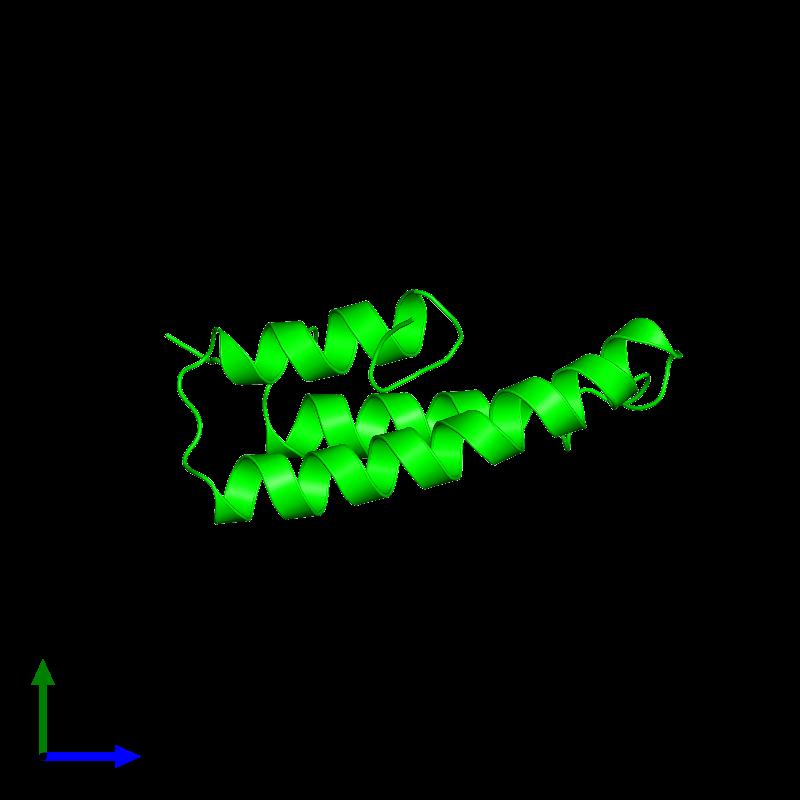 <div class='caption-body'><ul class ='image_legend_ul'>The deposited structure of PDB entry 1lre coloured by chemically distinct molecules and viewed from the side. The entry contains: <li class ='image_legend_li'>1 copy of Alpha-2-macroglobulin receptor-associated protein</li><li class ='image_legend_li'>There are no non-polymeric molecules</li></ul></li></ul></li></div>