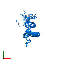 PDB 1lre contains 1 copy of Alpha-2-macroglobulin receptor-associated protein in assembly 1. This protein is highlighted and viewed from the top.
