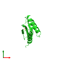 PDB 1lxj coloured by chain and viewed from the top.