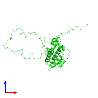 PDB 1lxl coloured by chain and viewed from the front.