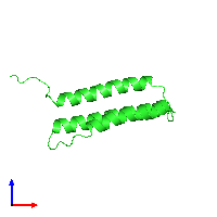 PDB 1m62 coloured by chain and viewed from the front.