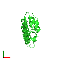 PDB 1mh8 coloured by chain and viewed from the top.