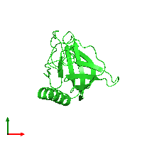 PDB 1mke coloured by chain and viewed from the top.