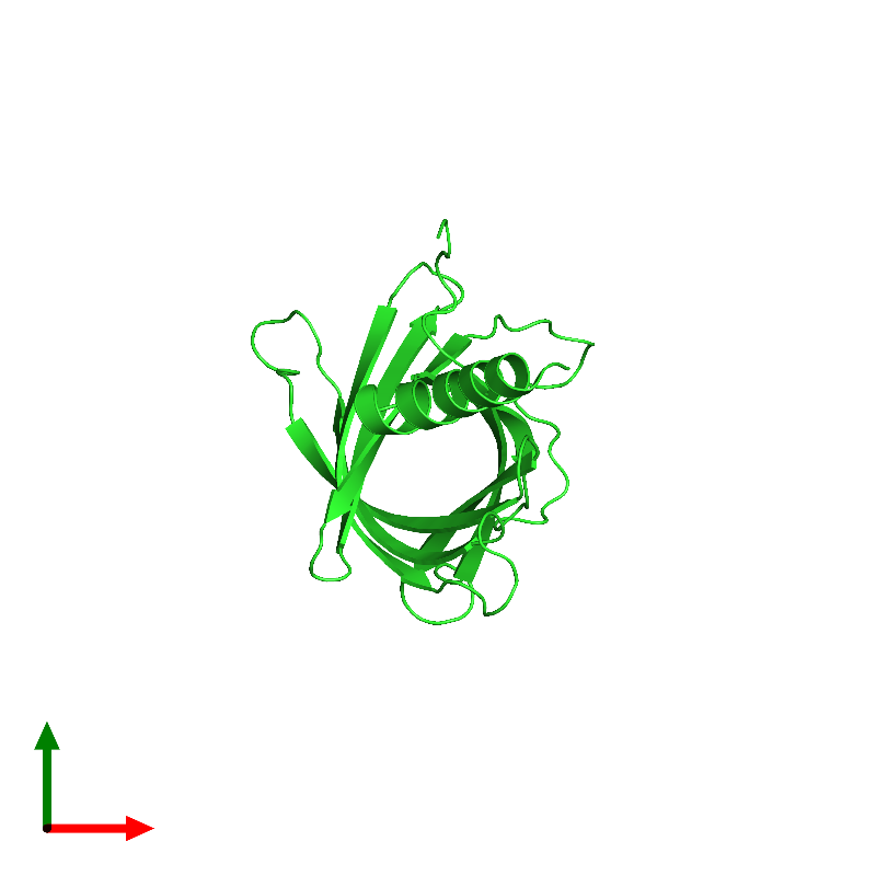 <div class='caption-body'><ul class ='image_legend_ul'>The deposited structure of PDB entry 1mm5 coloured by chain and viewed from the top. The entry contains: <li class ='image_legend_li'>1 copy of Lipid A palmitoyltransferase PagP</li><li class ='image_legend_li'>There are no non-polymeric molecules</li></ul></li></ul></li></div>