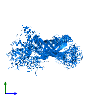 PDB 1mm5 contains 1 copy of Lipid A palmitoyltransferase PagP in assembly 1. This protein is highlighted and viewed from the side.
