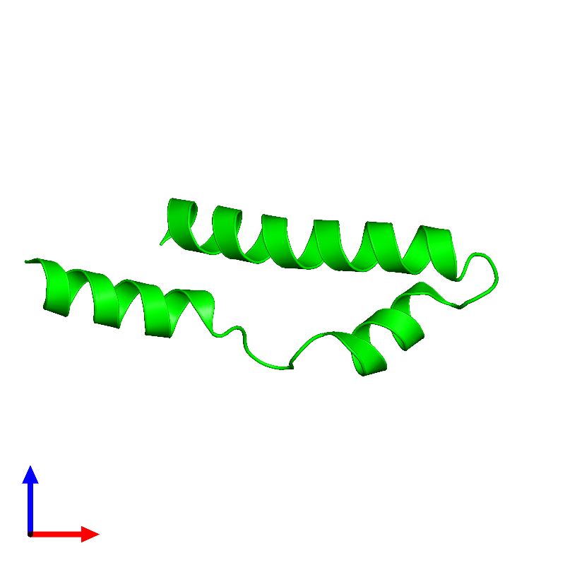 <div class='caption-body'><ul class ='image_legend_ul'>The deposited structure of PDB entry 1mn3 coloured by chemically distinct molecules and viewed from the front. The entry contains: <li class ='image_legend_li'>1 copy of Vacuolar protein sorting-associated protein VPS9</li><li class ='image_legend_li'>[]</li></ul></li></ul></li></div>
