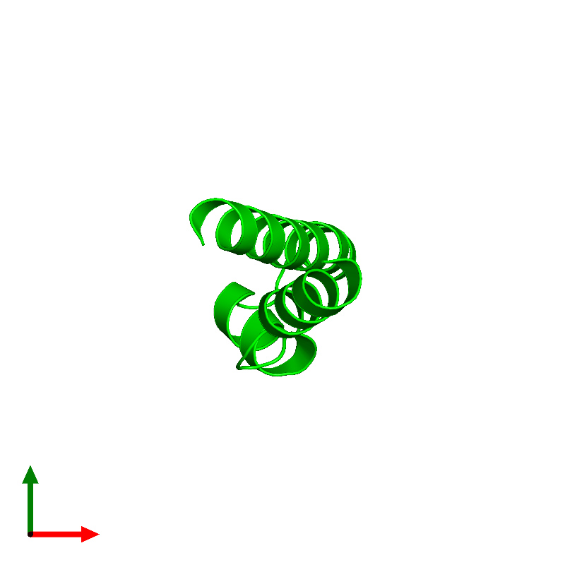 <div class='caption-body'><ul class ='image_legend_ul'>The deposited structure of PDB entry 1mn3 coloured by chemically distinct molecules and viewed from the top. The entry contains: <li class ='image_legend_li'>1 copy of Vacuolar protein sorting-associated protein VPS9</li><li class ='image_legend_li'>[]</li></ul></li></ul></li></div>