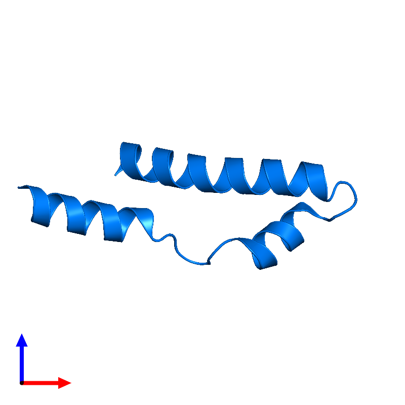 <div class='caption-body'>PDB entry 1mn3 contains 1 copy of Vacuolar protein sorting-associated protein VPS9 in assembly 1. This protein is highlighted and viewed from the front.</div>