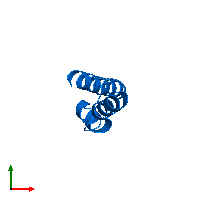 PDB 1mn3 contains 1 copy of Vacuolar protein sorting-associated protein 9 in assembly 1. This protein is highlighted and viewed from the top.