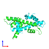 PDB 1n1j coloured by chain and viewed from the front.
