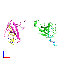 PDB 1n5z coloured by chain and viewed from the front.