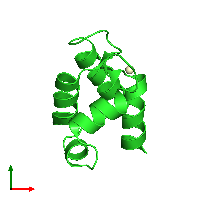 PDB 1n65 coloured by chain and viewed from the top.