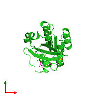 PDB 1n6h coloured by chain and viewed from the top.