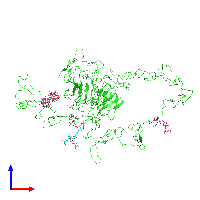 PDB 1n7d coloured by chain and viewed from the front.