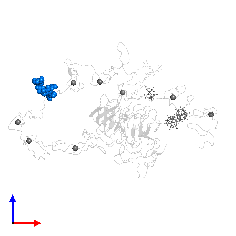<div class='caption-body'>PDB entry 1n7d contains 1 copy of alpha-D-mannopyranose-(1-6)-beta-D-mannopyranose-(1-4)-2-acetamido-2-deoxy-beta-D-glucopyranose-(1-4)-2-acetamido-2-deoxy-beta-D-glucopyranose in assembly 1. This small molecule is highlighted and viewed from the front.</div>