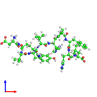 PDB 1n9u coloured by chain and viewed from the front.