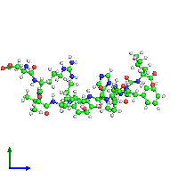 PDB 1n9u coloured by chain and viewed from the side.