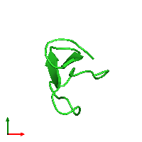PDB 1nb1 coloured by chain and viewed from the top.