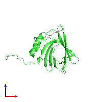 PDB 1ngl coloured by chain and viewed from the front.