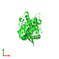 PDB 1nh1 coloured by chain and viewed from the top.