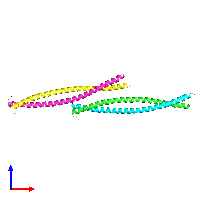 PDB 1nkn coloured by chain and viewed from the front.