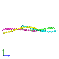 PDB 1nkn coloured by chain and viewed from the side.