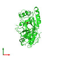 PDB 1nrk coloured by chain and viewed from the top.