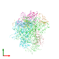 PDB 1nt9 coloured by chain and viewed from the top.