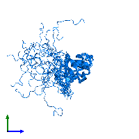 PDB 1nyn contains 1 copy of Restriction of telomere capping protein 3 in assembly 1. This protein is highlighted and viewed from the side.