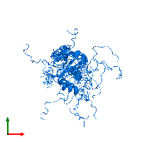 PDB 1nyn contains 1 copy of Restriction of telomere capping protein 3 in assembly 1. This protein is highlighted and viewed from the top.