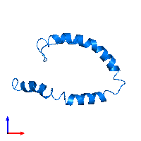 PDB 1o8t contains 1 copy of Apolipoprotein C-II in assembly 1. This protein is highlighted and viewed from the front.