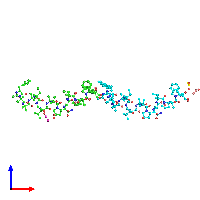 PDB 1ob6 coloured by chain and viewed from the front.