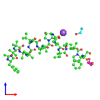 PDB 1ob7 coloured by chain and viewed from the front.