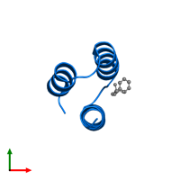 PDB 1oks contains 1 copy of Phosphoprotein in assembly 1. This protein is highlighted and viewed from the top.