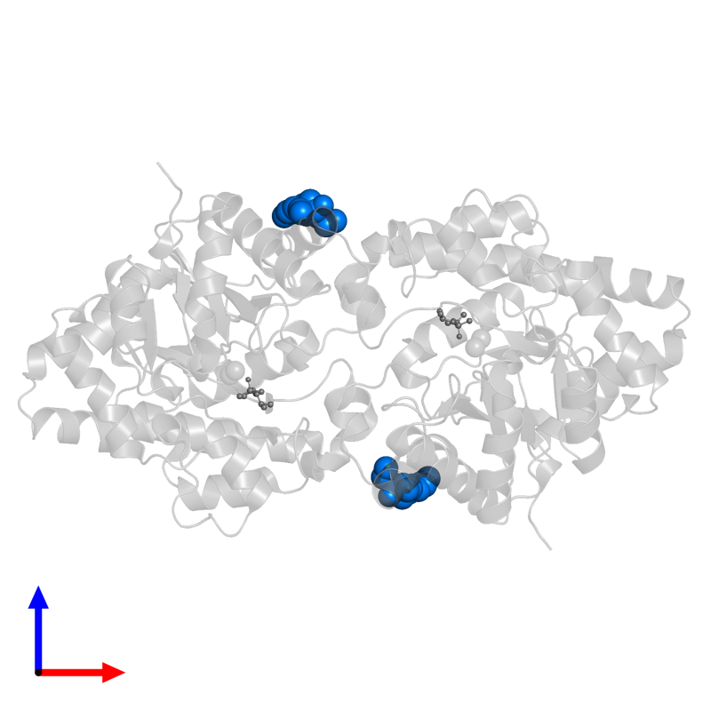 <div class='caption-body'>PDB entry 1p6c contains 2 copies of DIETHYL 4-METHYLBENZYLPHOSPHONATE in assembly 1. This small molecule is highlighted and viewed from the front.</div>