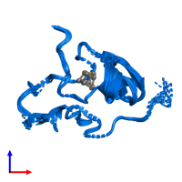 PDB 1pih contains 1 copy of High-potential iron-sulfur protein isozyme I in assembly 1. This protein is highlighted and viewed from the front.