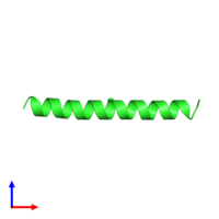 PDB 1piq coloured by chain and viewed from the front.