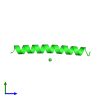 PDB 1piq coloured by chain and viewed from the side.