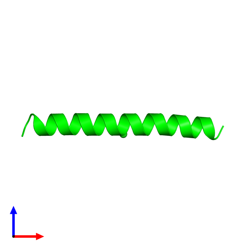 <div class='caption-body'><ul class ='image_legend_ul'>The deposited structure of PDB entry 1piq coloured by chemically distinct molecules and viewed from the front. The entry contains: <li class ='image_legend_li'>1 copy of General control transcription factor GCN4</li><li class ='image_legend_li'>There is 1 non-polymeric molecule<ul class ='image_legend_ul'><li class ='image_legend_li'>1 copy of CHLORIDE ION</li></ul></li></div>