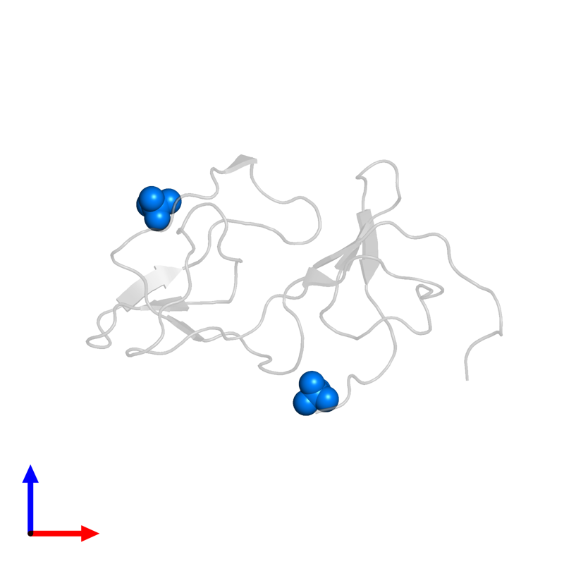 <div class='caption-body'>PDB entry 1pju contains 2 copies of SULFATE ION in assembly 1. This small molecule is highlighted and viewed from the front.</div>