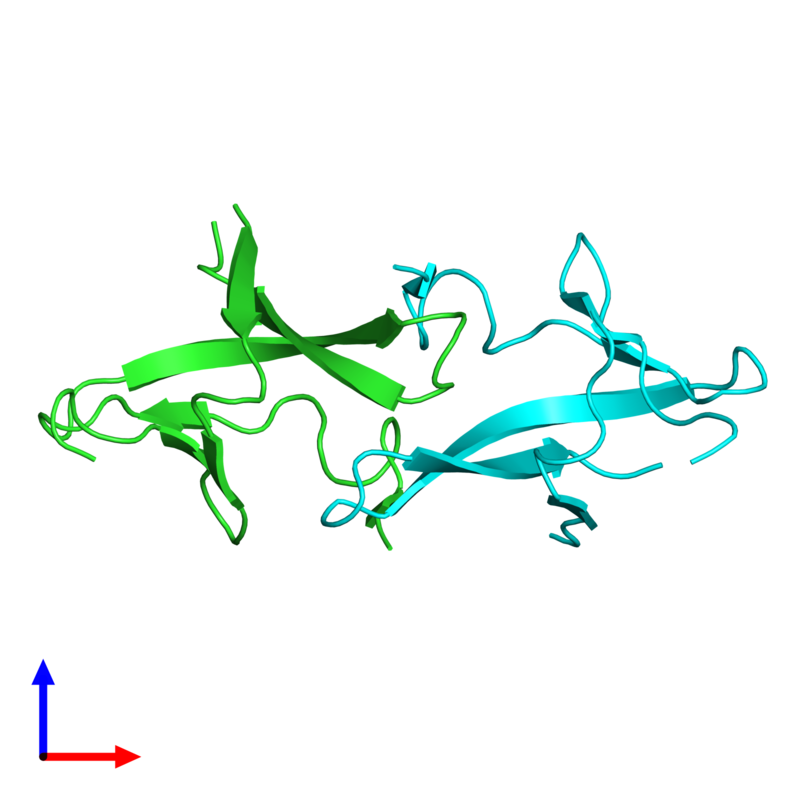 <div class='caption-body'><ul class ='image_legend_ul'>The deposited structure of PDB entry 1pm3 coloured by chain and viewed from the side. The entry contains: <li class ='image_legend_li'>2 copies of PRC domain-containing protein</li><li class ='image_legend_li'>There are no non-polymeric molecules</li></ul></li></ul></li></div>